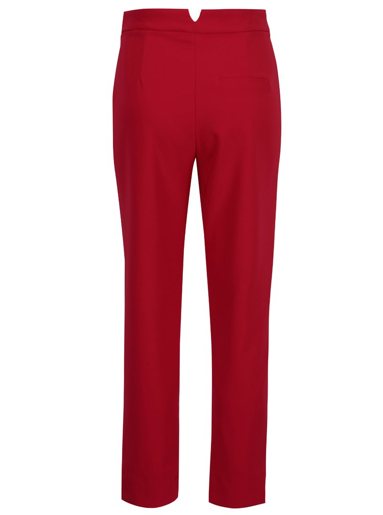 Pantaloni rosii cu talie inalta si funda - TALLY WEiJL