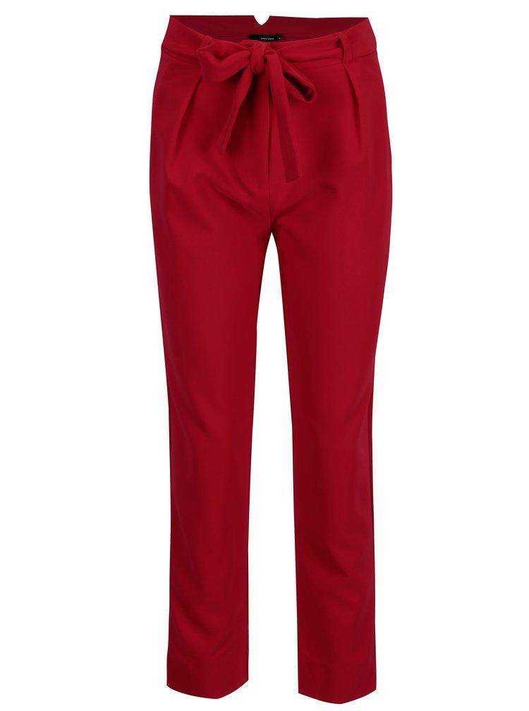Červené kalhoty s vysokým pasem TALLY WEiJL