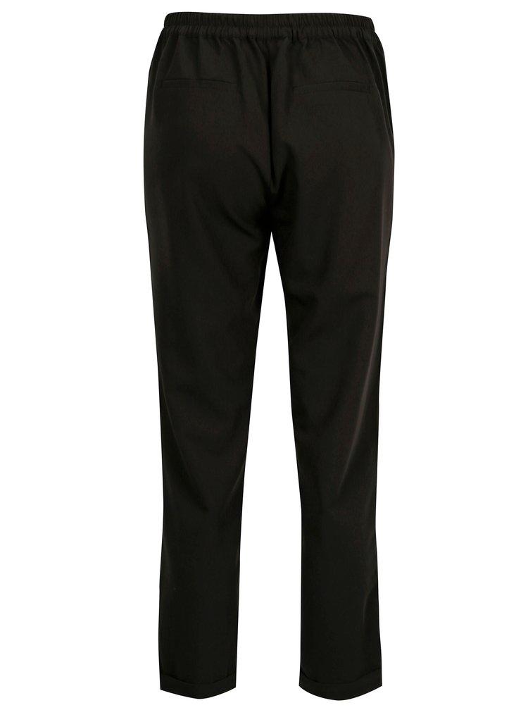 Černé zkrácené kalhoty s vysokým pasem TALLY WEiJL