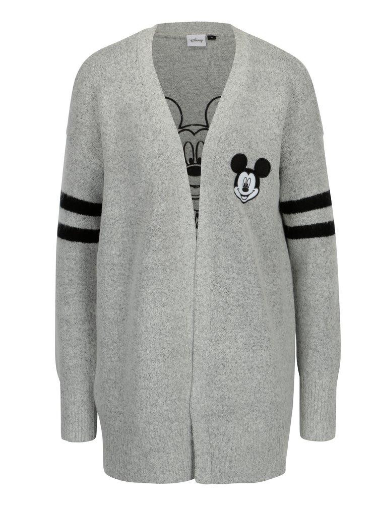 Sivý melírovaný kardigán s motívom Mickey Mouse TALLY WEiJL