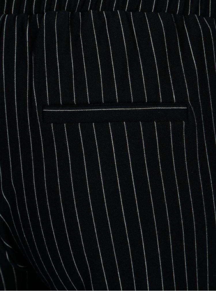 Tmavě modré zkrácené pruhované kalhoty TALLY WEiJL