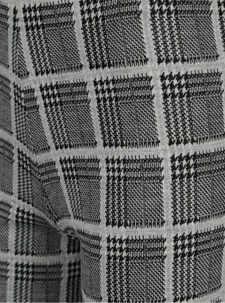 Černo-bílé kostkované culottes TALLY WEiJL
