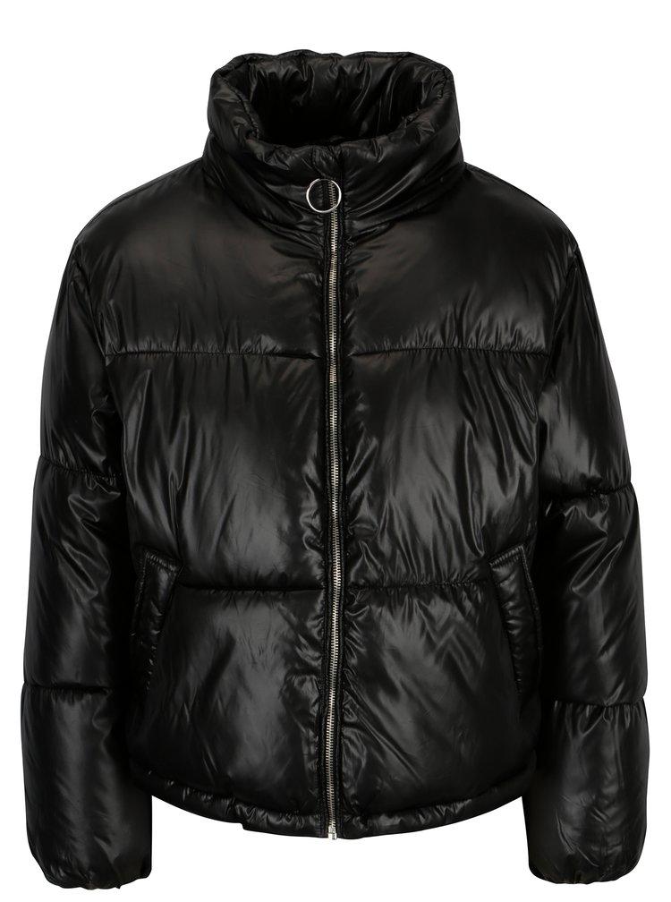 Černá krátká prošívaná bunda TALLY WEiJL