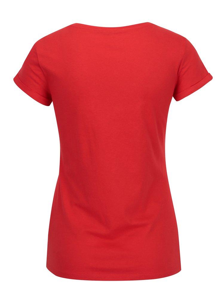 Červené tričko s potiskem TALLY WEiJL