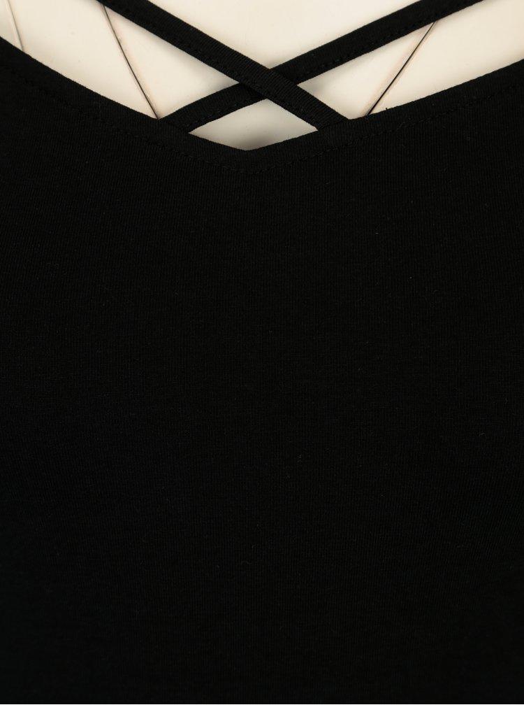 Bluza neagra cu barete incrucisate si maneci 3/4 - TALLY WEiJL