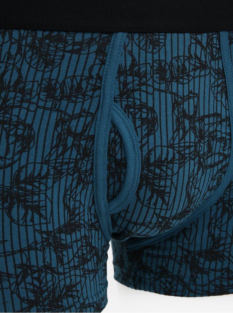 Set de 3 perechi de boxeri multicolori cu print  Burton Menswear London