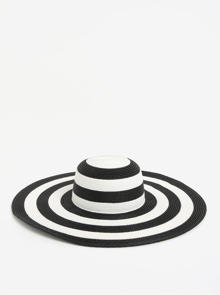 Černo-bílý pruhovaný klobouk VERO MODA Lisa
