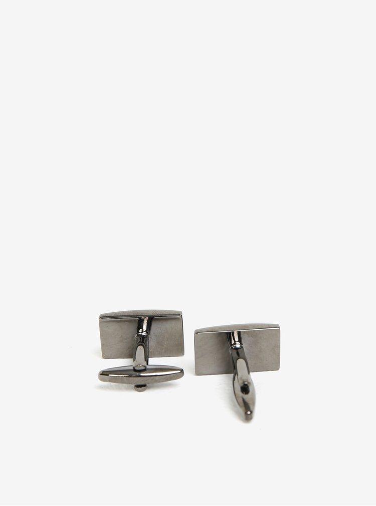 Manžetové knoflíčky v stříbrné barvě Burton Menswear London