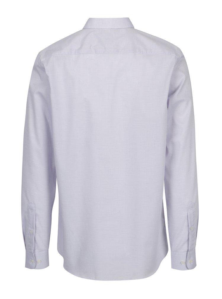 Svetloružová formálna vzorovaná regular fit košeľa Selected Homme Two Sel