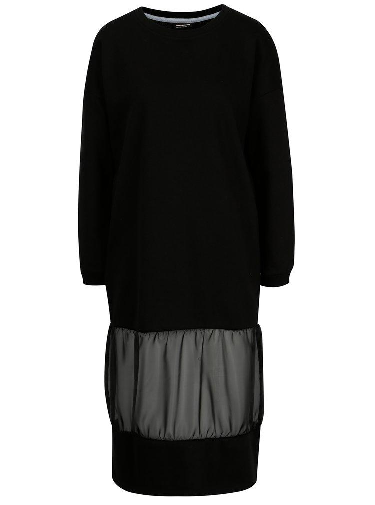 Černé mikinové šaty Noisy May Colette