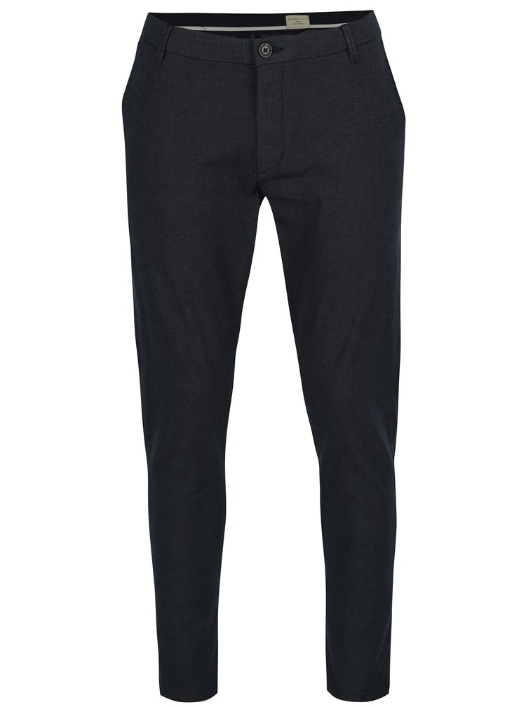 Tmavě modré chino kalhoty Selected Homme Harval