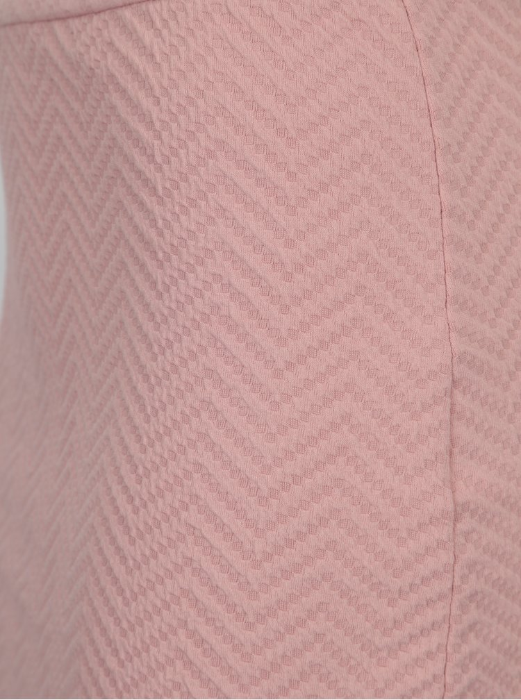 Světle růžová vzorovaná sukně VERO MODA Jazelda