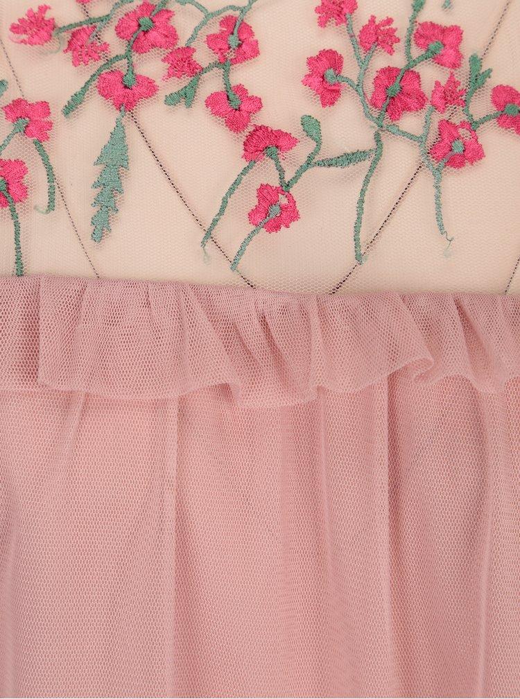 Ružová blúzka s výšivkami VERO MODA Jade