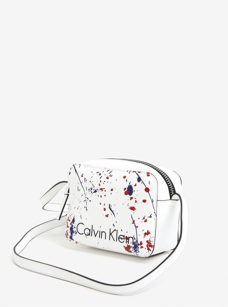 Bílá malá crossbody kabelka Calvin Klein Jeans
