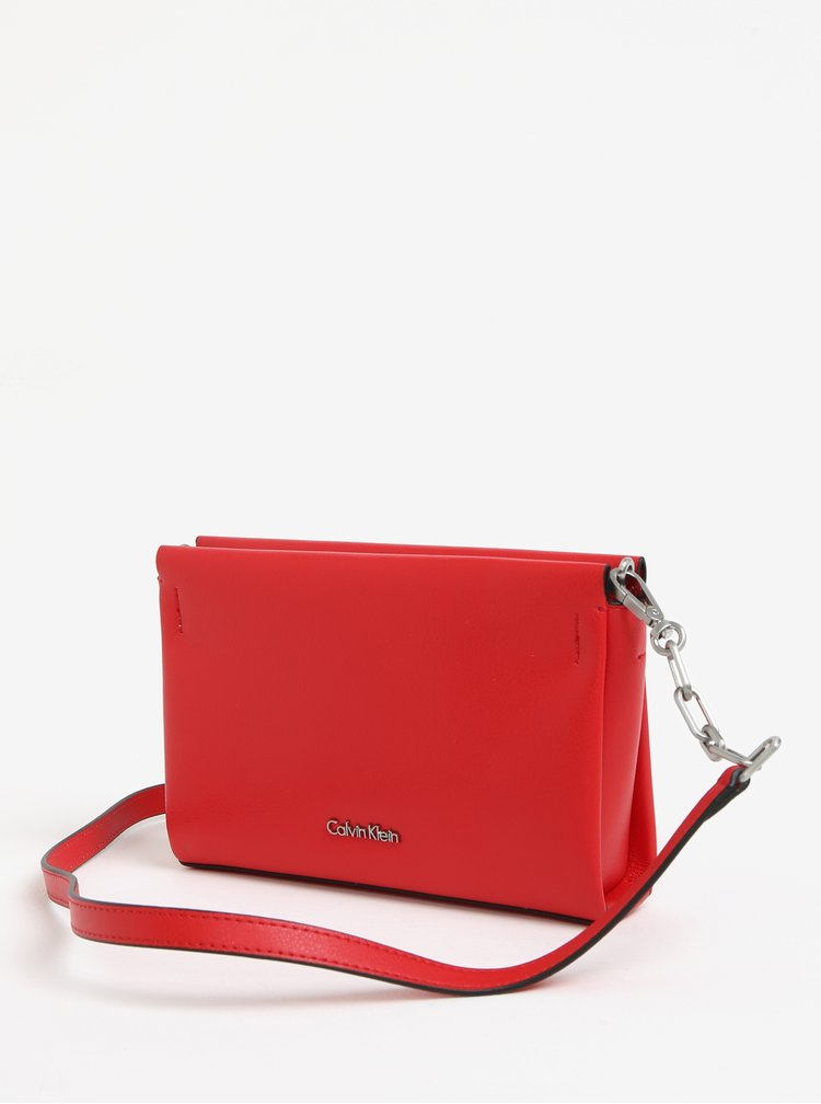 Červené psaníčko Calvin Klein Jeans