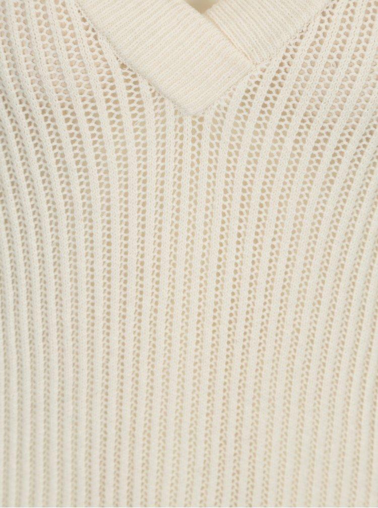 Krémový průsvitný svetr VERO MODA AWARE Castiel