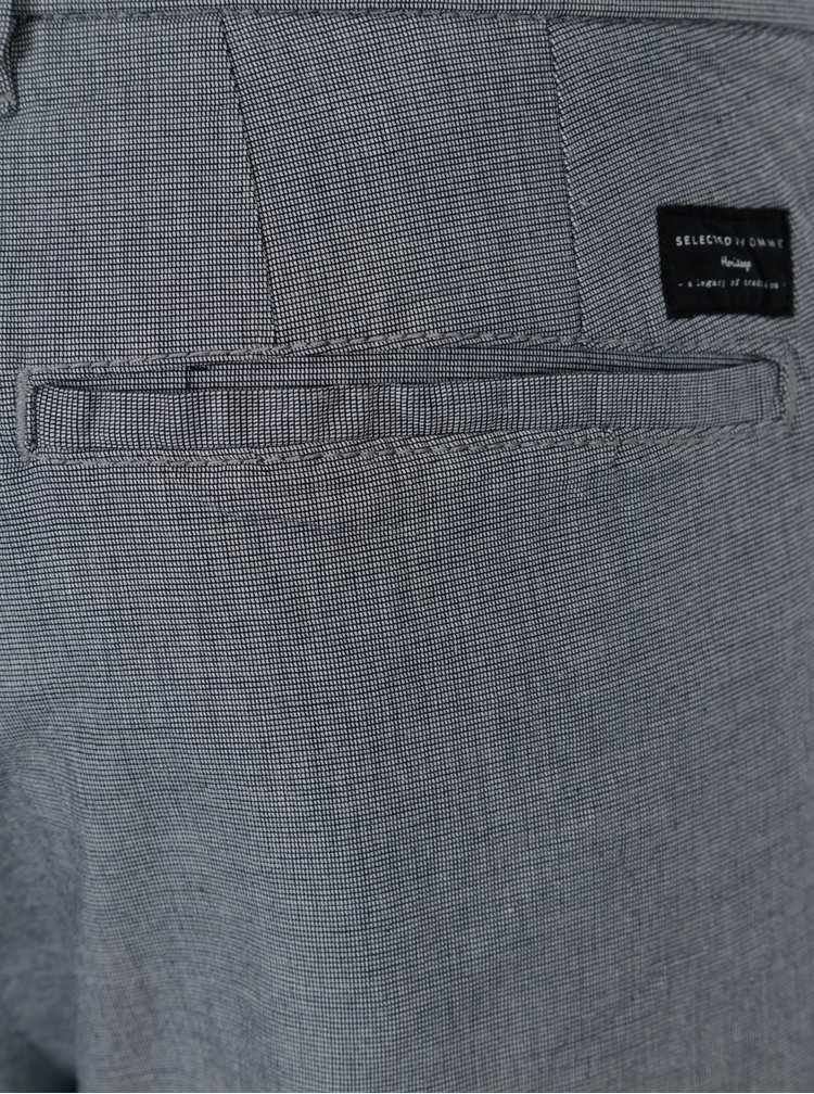 Sivé chino nohavice Selected Homme Harval