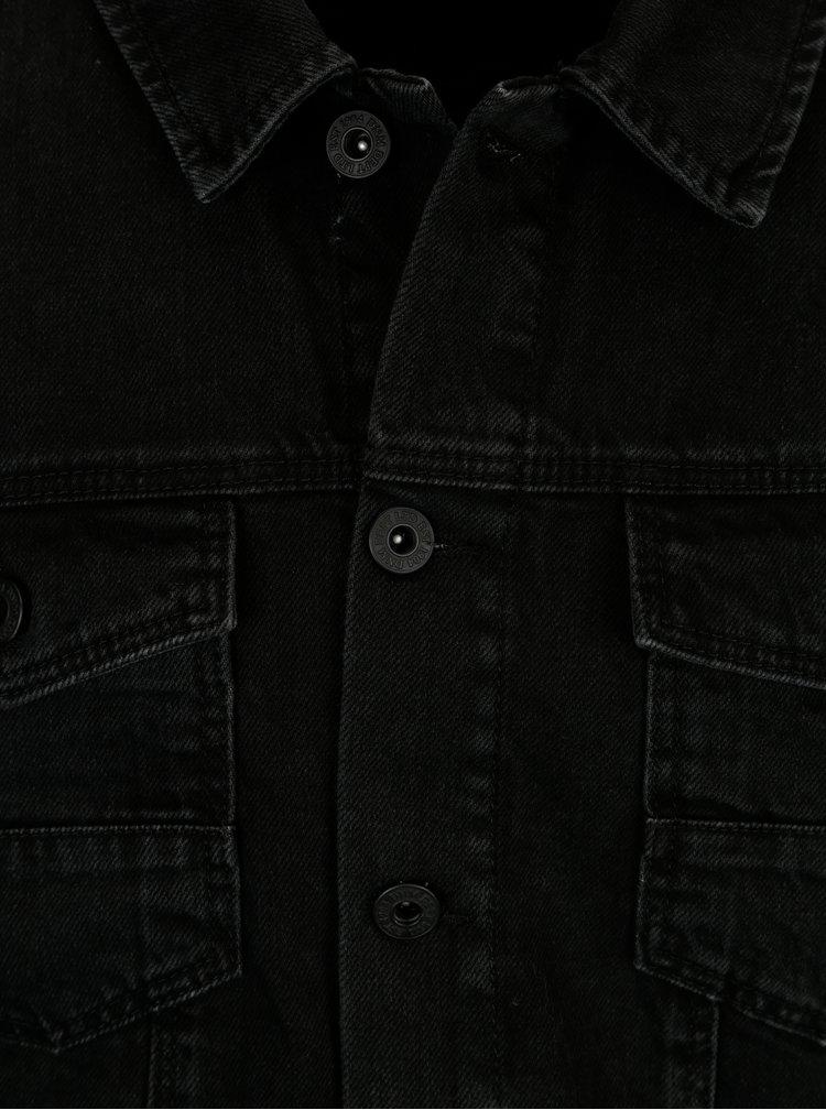 Černá džínová bunda Burton Menswear London