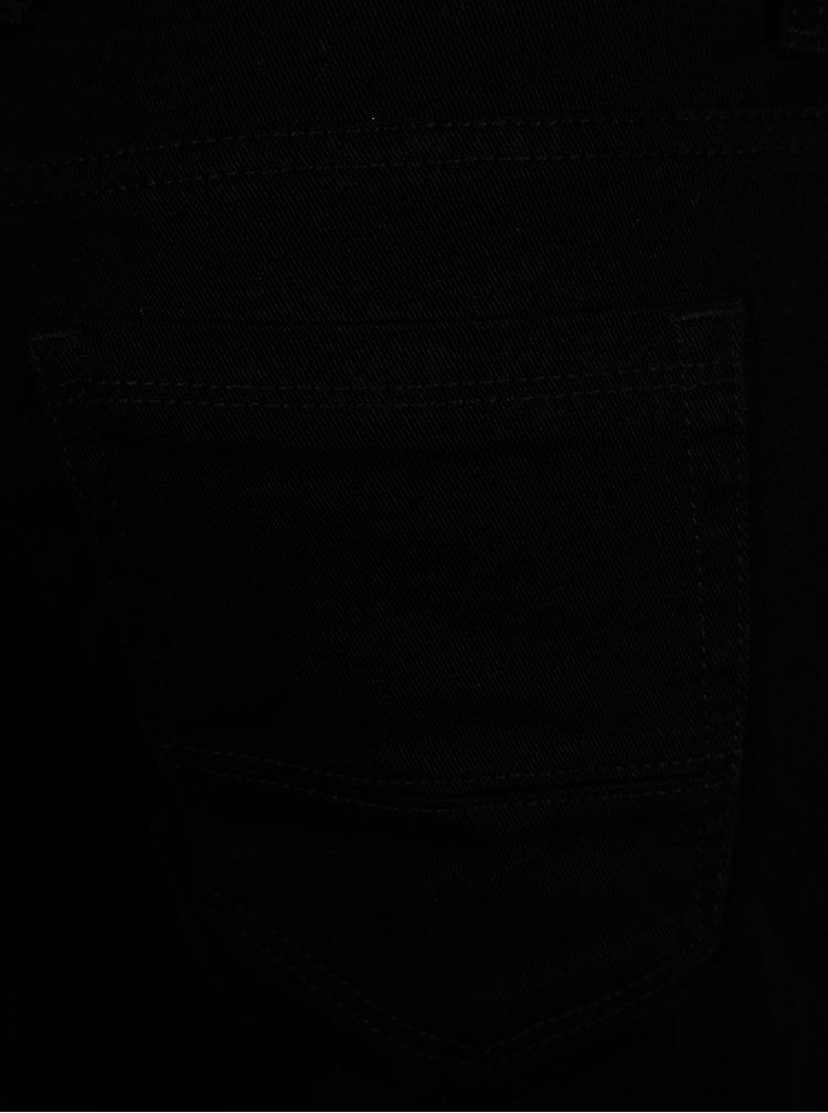 Čierne skrátené skinny rifle Burton Menswear London
