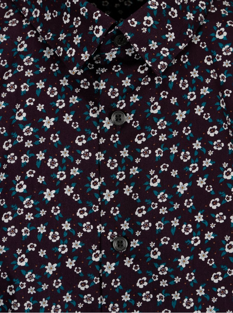 Camasa cu print floral multicolor Burton Menswear London