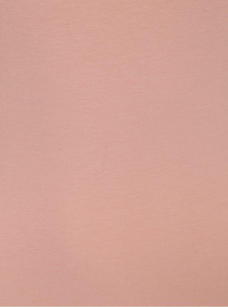 Světle růžové dlouhé tílko VERO MODA Maxi