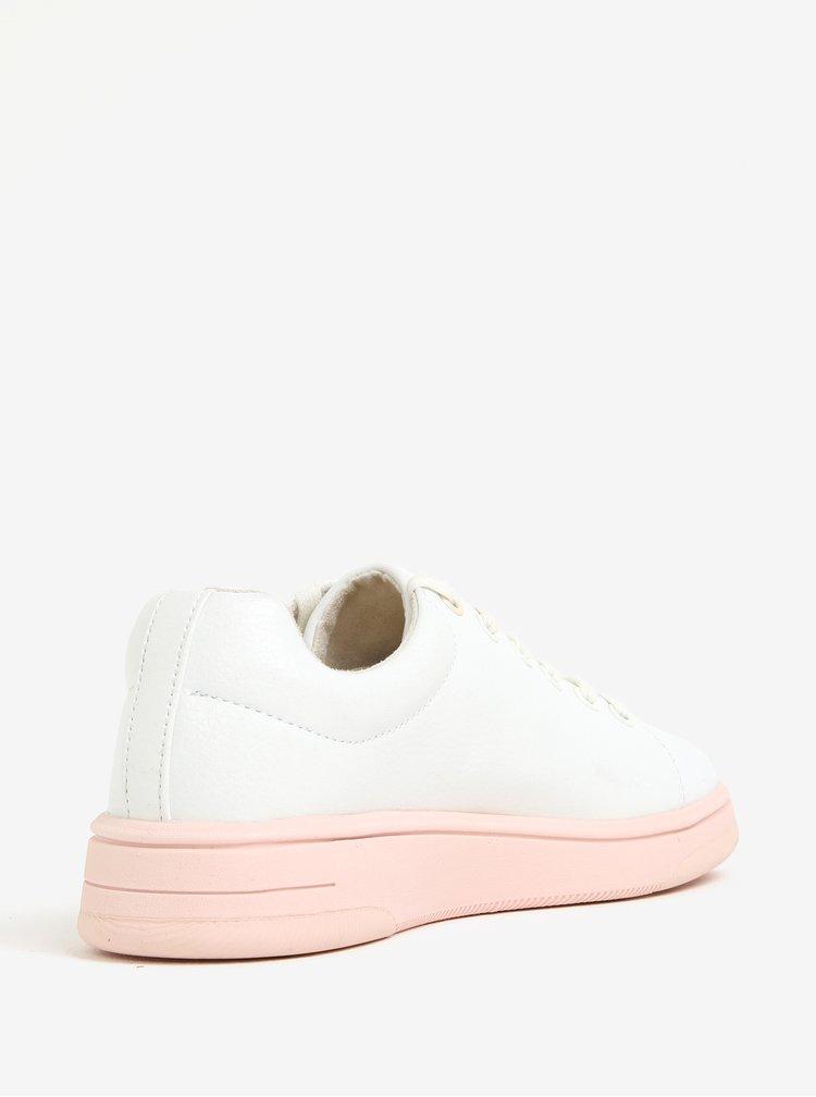 Růžovo-krémové tenisky na platformě Tamaris