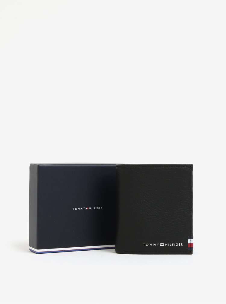 Černá pánská kožená peněženka Tommy Hilfiger Soft