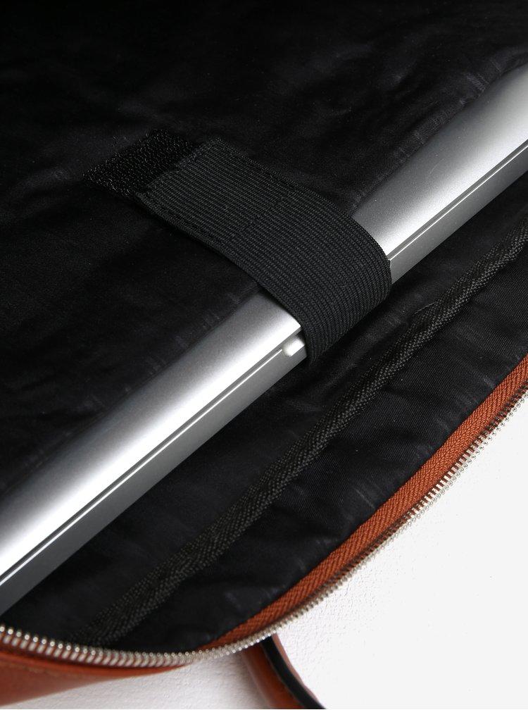Hnědá pánská koženková taška Bobby Black