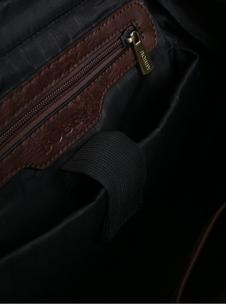 Rucsac maro din piele sintetica pentru barbati - Bobby Black