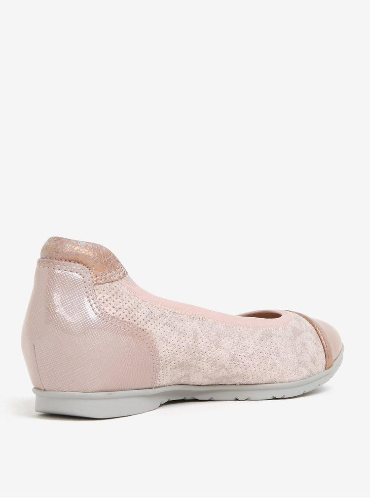 Balerini roz cu perforatii Tamaris