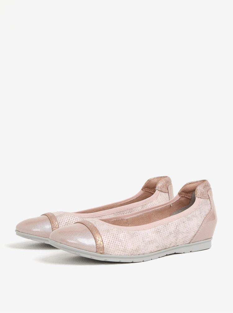 Světle růžové baleríny s lesklou špičkou Tamaris
