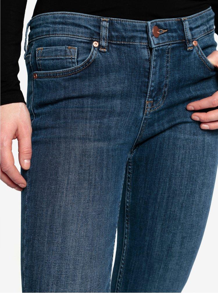 Modré zkrácené skinny džíny Oasis Isabella