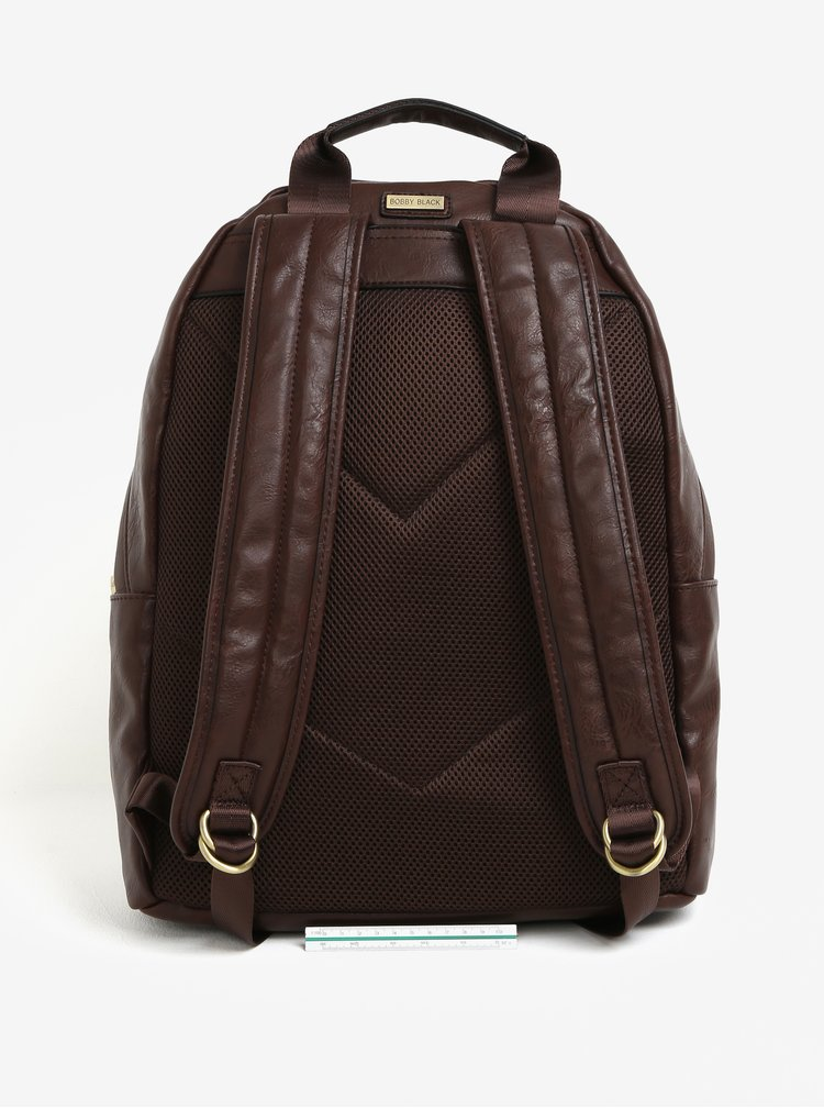 Hnědý batoh s kapsou Bobby Black