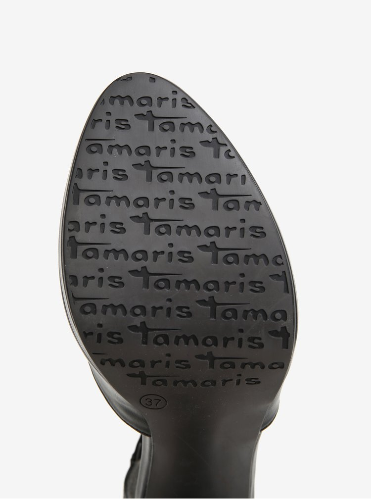 Černé lodičky na tlustém podpatku Tamaris