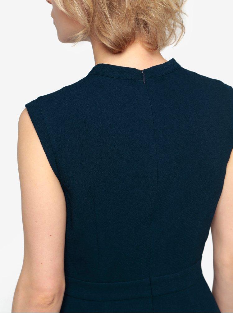 Tmavě modré šaty s výšivkami Oasis Blossom