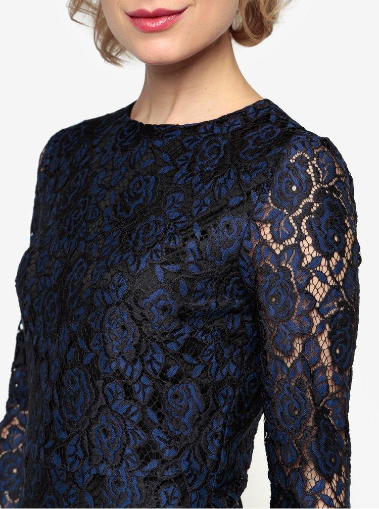 Rochie din dantela bleumarin cu model floral Oasis Two tone