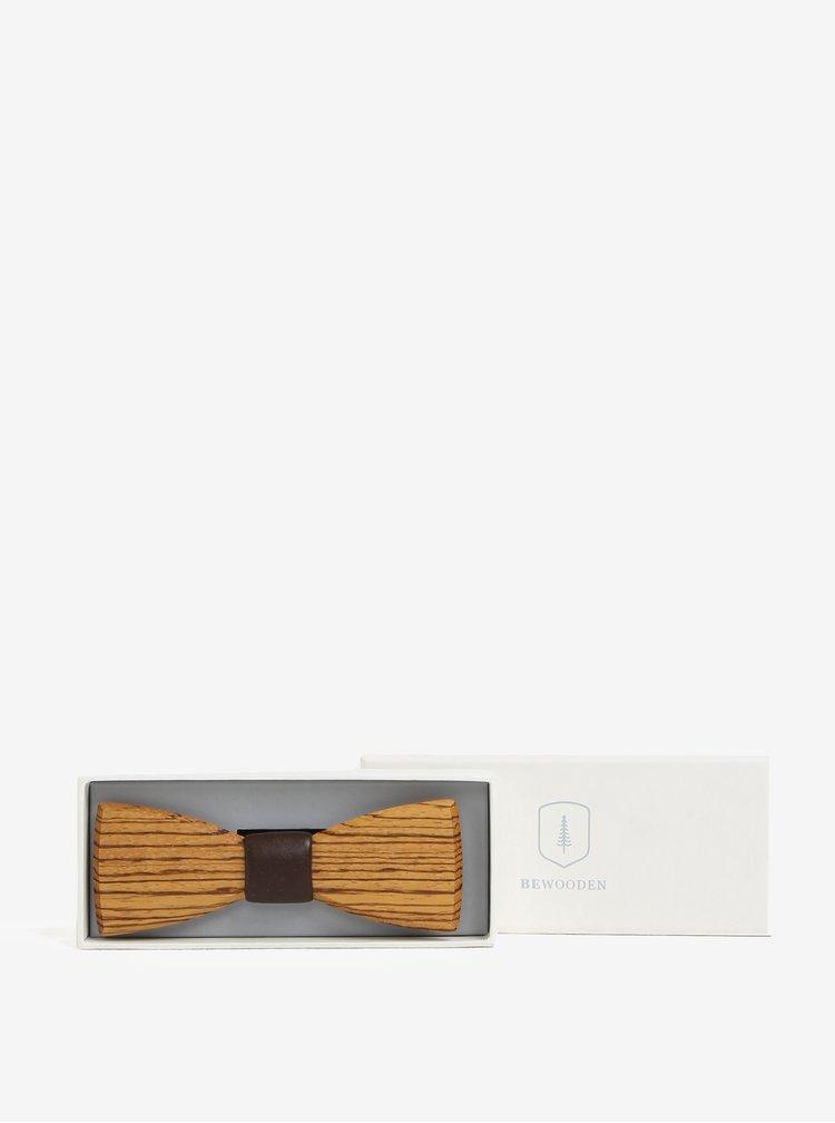 Papion din lemn in cutie cadou - BeWooden Corra