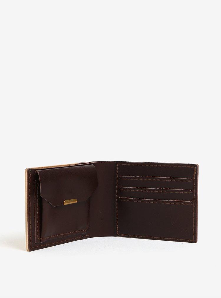 Světle hnědá dřevěná peněženka BeWooden Lineari