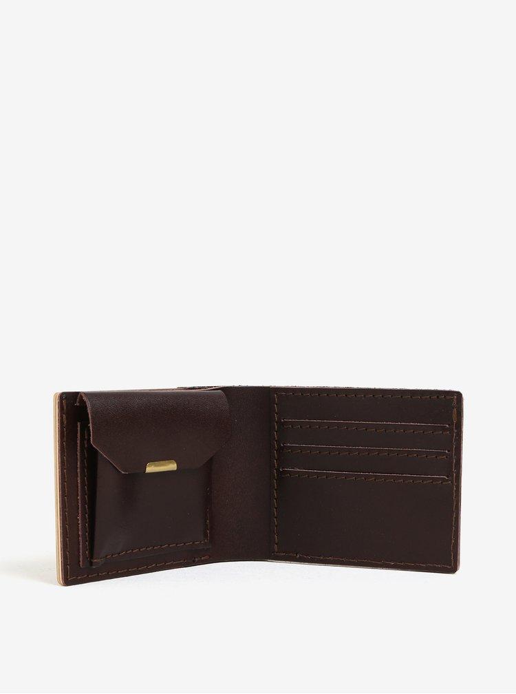 Hnědá dřevěná peněženka BeWooden Virilia
