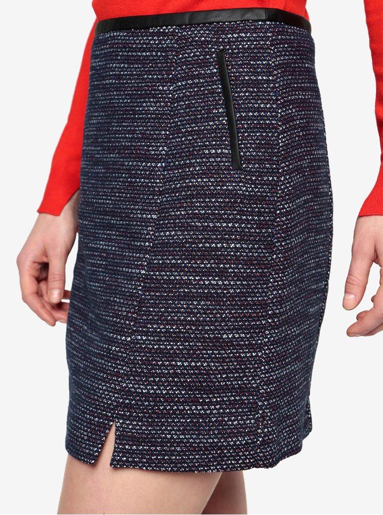 Tmavě modrá vzorovaná sukně Oasis Merlot