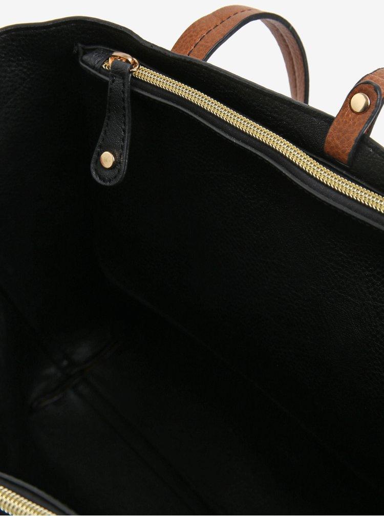 Hnědý shopper s crossbody kabelkou 2v1 Oasis Sunny