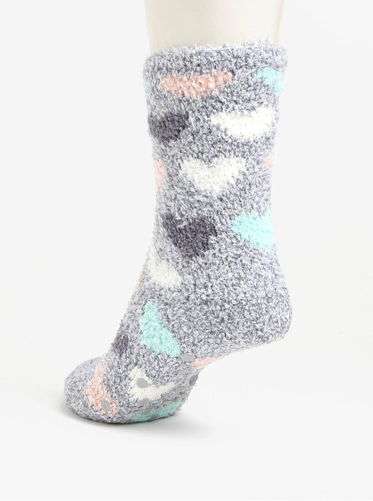 Sada dvou párů vzorovaných ponožek v šedé a bílé barvě Oasis Heart