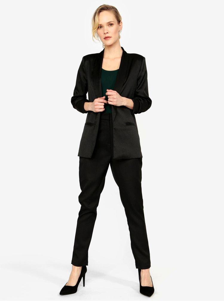 Černé kostýmové sako s 3/4 rukávem MISSGUIDED