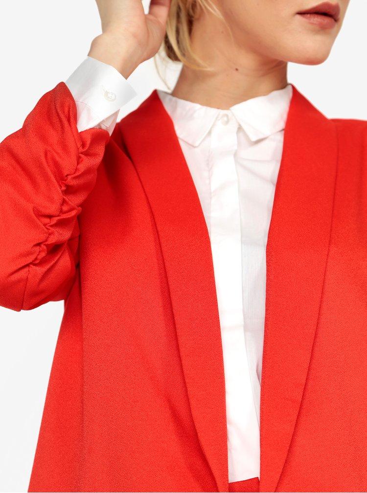 Červené sako s 3/4 rukávom MISSGUIDED
