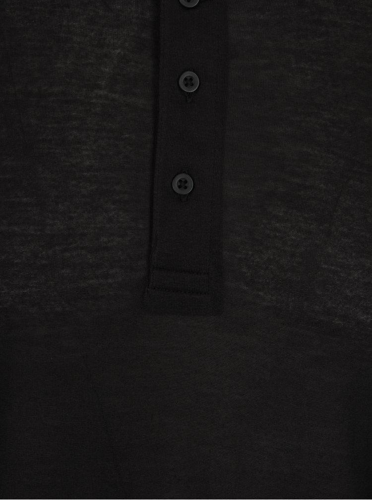 Černé oversize tričko s dlouhým rukávem Selected Homme Splint