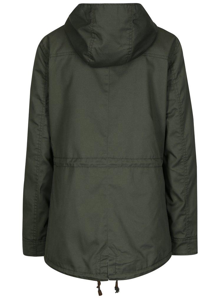 Khaki parka s kapucí ONLY New Lorca