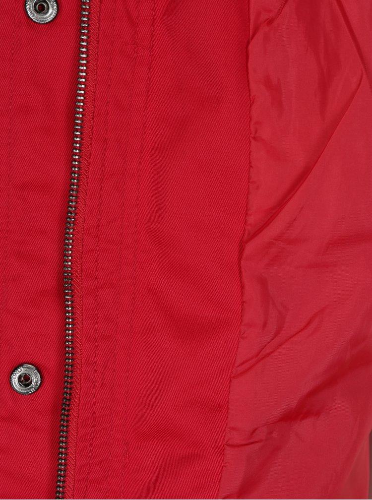 Červená parka s kapucí ONLY New Lorca