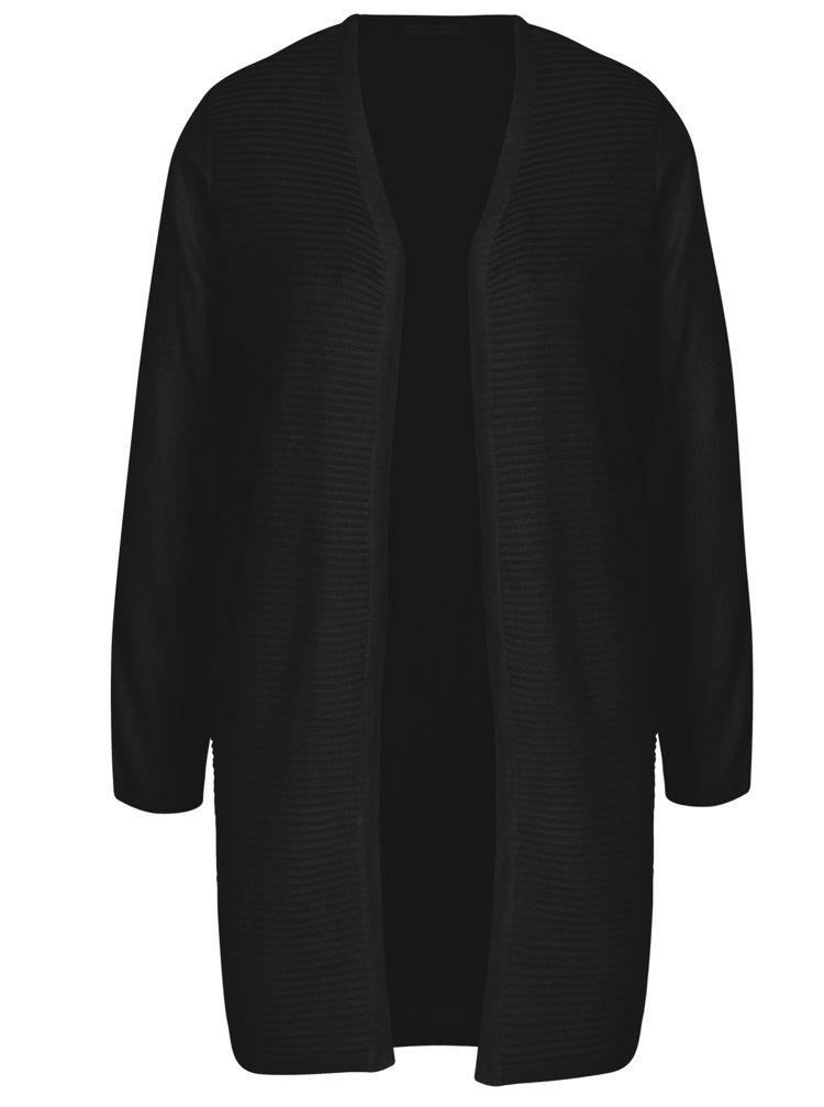 Černý žebrovaný kardigan Jacqueline de Yong Tint