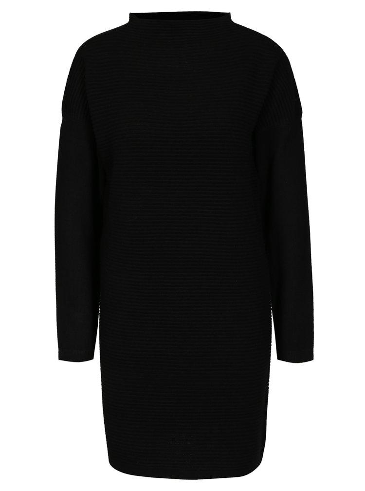 Černé svetrové šaty Jacqueline de Yong Tint