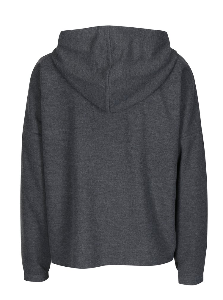 Šedý svetr s kapucí ONLY Gia